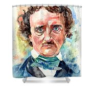 Edgar Allan Poe Portrait Shower Curtain
