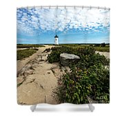 Edgartown Lighthouse Marthas Vineyard Shower Curtain