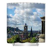 Edinburgh Castle From Calton Hill Shower Curtain