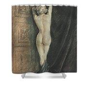 Edouard Chimot Nude In Boudoir  Shower Curtain