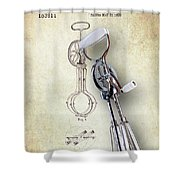 Eggbeater With Antique Eggbeater Patent Shower Curtain