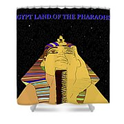 Egyptian Night Travel Poster A Shower Curtain