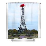 Eiffel Tower In Paris Texas Shower Curtain
