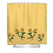 Eight In Bronze Shower Curtain