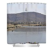 Eight On The Lake - 09222018 Shower Curtain