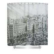 El Mansheya Park - Tripoli Shower Curtain