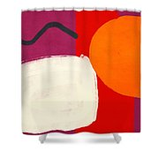 Elation 3- Abstract Art By Linda Woods Shower Curtain