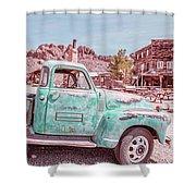 Eldorado Ghost Town Searchlight Nevada Pano Shower Curtain
