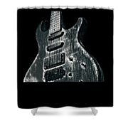 Electric Guitar Musician Player Metal Rock Music Lead Black Shower Curtain