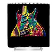 Electric Guitar Musician Player Metal Rock Music Lead Shower Curtain