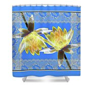 Electric Yellow Water Lilies Shower Curtain