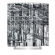 Electrical Substation Shower Curtain by Juan Contreras