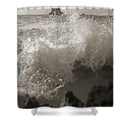 Elegant Coastal Splash Bermuda Shower Curtain