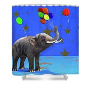 Elephant Celebration Shower Curtain
