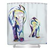 Elephants Side By Side Shower Curtain