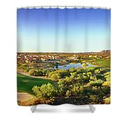 Elevated View Of Golf Course, Sun City Shower Curtain