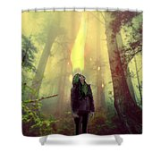 Elf With Flame Shower Curtain
