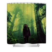 Elf With Halo Shower Curtain