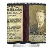Eliot Ness Treasury Id Shower Curtain