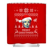 Elon Musk Merry Christmusk Shower Curtain