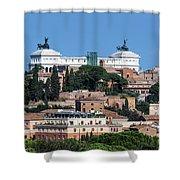 Emanuele II Monument Shower Curtain