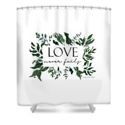 Emerald Wild Forest Foliage 2 Watercolor Shower Curtain