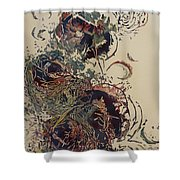 Empty Nest II Up And Out Shower Curtain