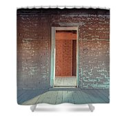 Empty Old Brick House Grafton Ghost Town Shower Curtain