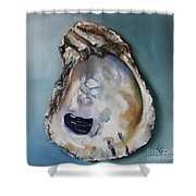 Empty Oyster Shell Shower Curtain