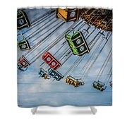 Empty Swings Shower Curtain