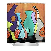 Empty Vases Shower Curtain by Anthony Falbo