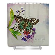 Enchanting Butterfly Shower Curtain