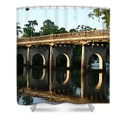 End Of An Era, East Innisfail Jubilee Bridge, Fnq Au  Shower Curtain