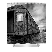 End Of The Line Bw Shower Curtain
