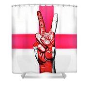 England Peace Flag Shower Curtain