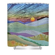 English Downs In Late Autumn Shower Curtain