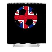 English Soccer Design British Flag Soccer Ball Shower Curtain
