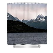 View Over Ensenada Bay Of High Peaks In Tierra Del Fuego National Park, Ushuaia, Argentina Shower Curtain