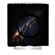 Enso Galaxy - Zen Circle Abstract  Shower Curtain by Marianna Mills