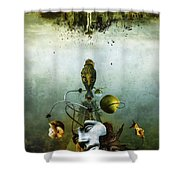 Ephemeral Architecture Shower Curtain