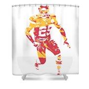 Eric Berry Kansas City Chiefs Apparel T Shirt Pixel Art 1 Shower Curtain