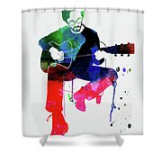 Eric Clapton Watercolor Shower Curtain