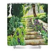 Escaliers A Villefranche Shower Curtain