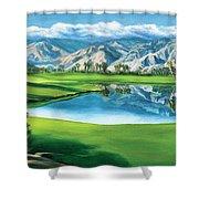 Escena Golf Club Shower Curtain
