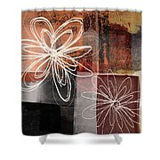 Espresso Flower 2- Art By Linda Woods Shower Curtain