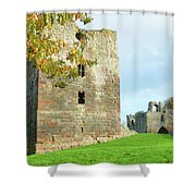 Etal Castle Tower And Gatehouse Shower Curtain