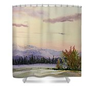 Evening In The Mountains Shower Curtain