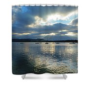 Evening On Windermere In Lake District National Park Shower Curtain
