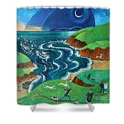 Evening Sea Breezes Shower Curtain