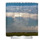 Evening Supercell And Lightning 012 Shower Curtain
